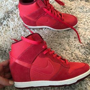 Nike Sneaker Wedges red !